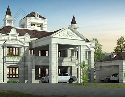 Super luxury 6 bedroom house rendering