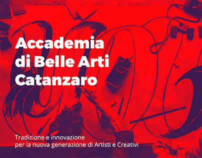 Accademia di Belle Arti Catanzaro - Web Design Project