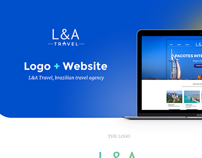 L&A Travel logo and website design