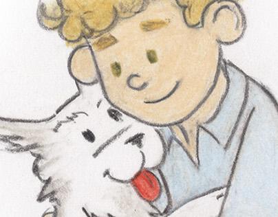 """Book Illustration: """"A Boy Named Love"""""""