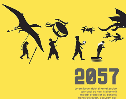 POSTER DESIGN SERIES - 2057 ART EXHIBITION