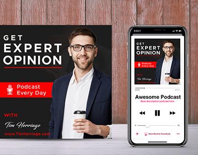 Business Podcast Cover Art Design