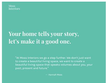 Moss Interiors Website Design