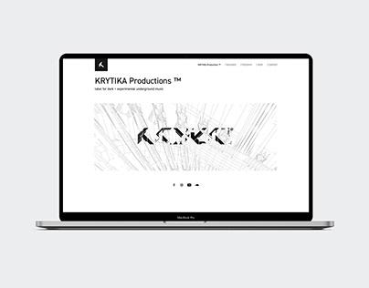 KRYTIKA Productions Branding