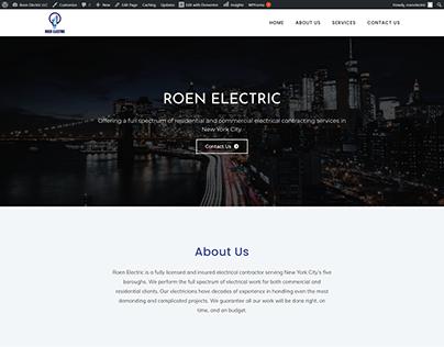 Roen Electric Full website design