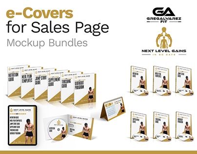 3D e-Covers for Fitness Sales Page