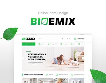 Webdesign for chemicals eshop