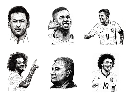 Portraits of the Brazilian National Team