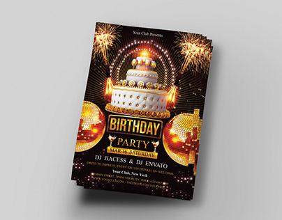 Birthday Party Flyer Title Design