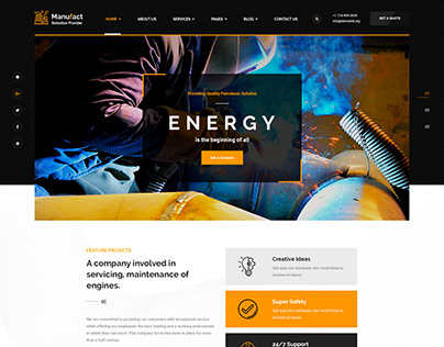 Manufactori : Factory and Industrial Business Concept