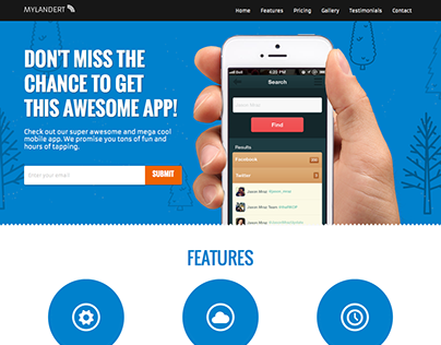 My Landert - App Responsive Landing Page