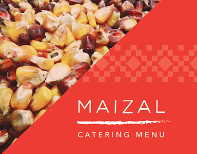 MAIZAL Digital Catering Menu Design