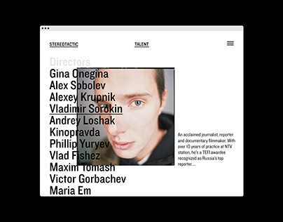 Stereotactic // Website