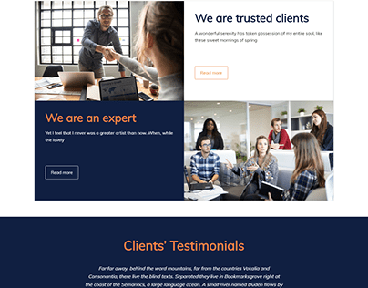 Finance magazine | WordPress website design | elementor
