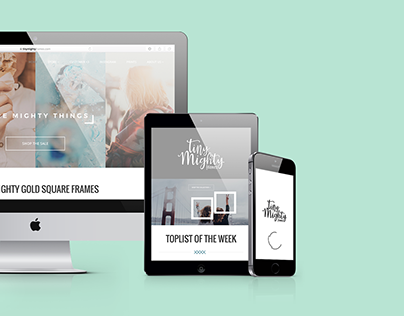Tiny Mighty Frames - Brand, Photography, Web Design