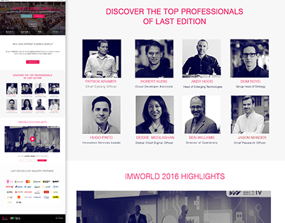 Tech Conference Landing Page Web Design