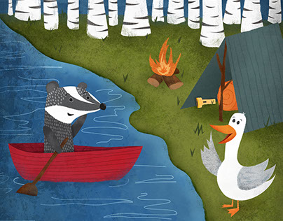 Badger and Duck Go Camping: Critter of the Week