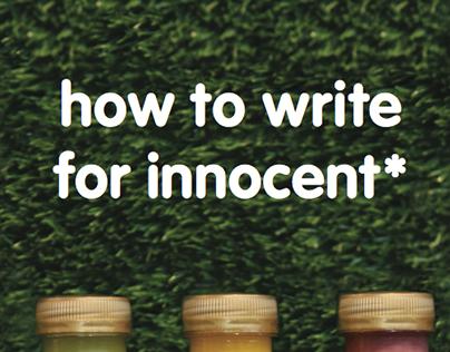 innocent Copy Guidelines