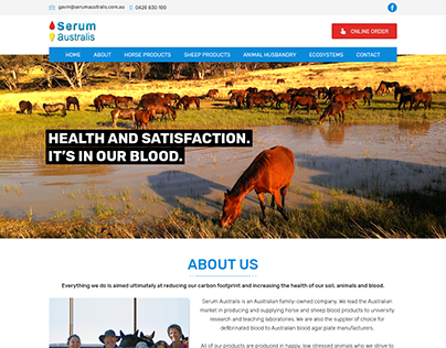 Horse Serums Catalog Website to sell cattle serums