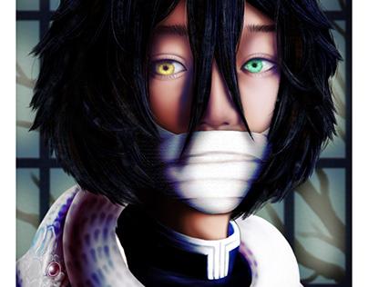 Fanart: Obanai Iguro of Demon Slayer