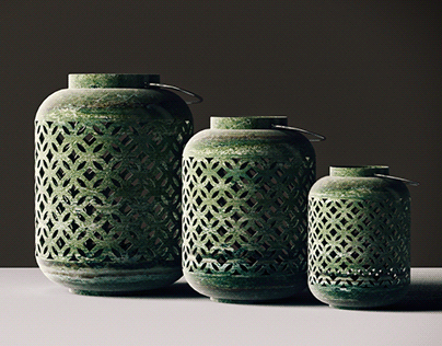 Decorative Vase Set 3D Model