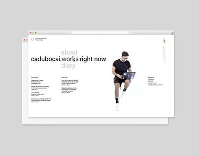 cadubocai.works ◯ personal website