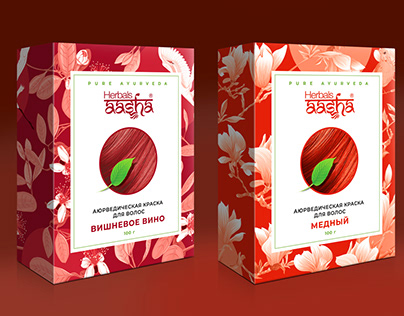 Herbals Aasha аюрведическая краска для волос
