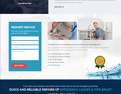 Plumbing Website Development