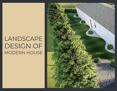 LANDSCAPE DESIGN OF MODERN HOUSE