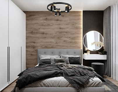 Дизайн и 3д- визуализация спальни