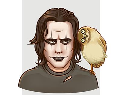 The Crow telegram stickers