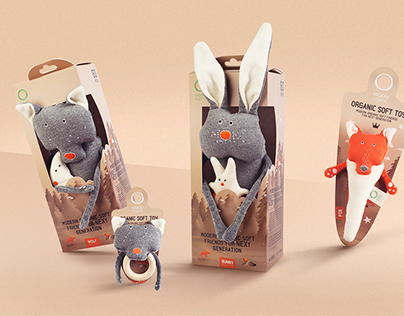 Wooly Organic toy packaging