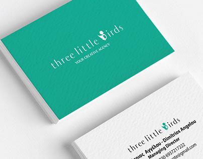 Visual identity THREE LITTLE BIRDS creative agency