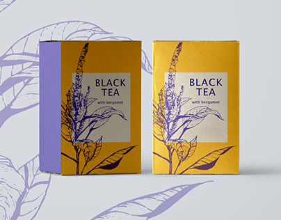 Floral illustration for the tea package