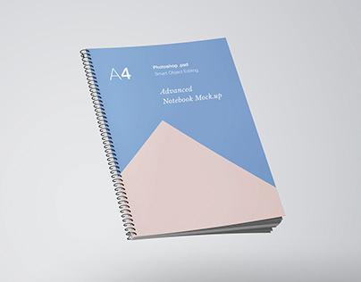 A4 Notebook Mockup PSD