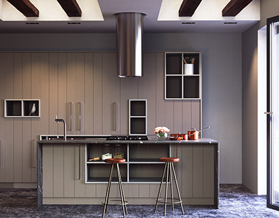 Modern kitchen interior by AIR Studio