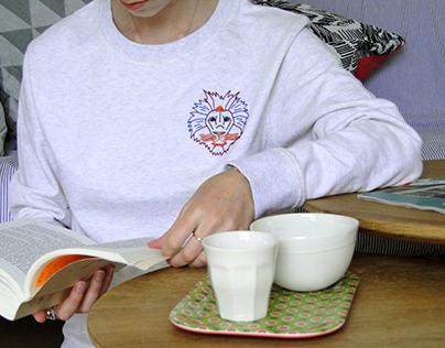 Lancement de tops brodés en coton