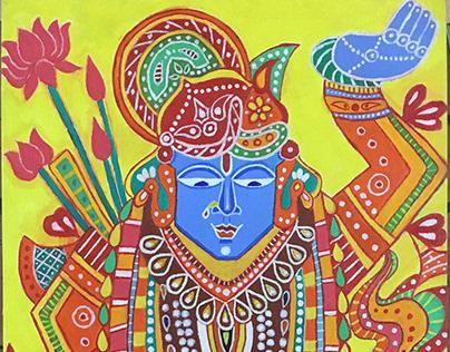 Acrylic Painting - Lord Shrinathji