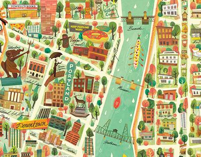 Portland City Map - Citix60