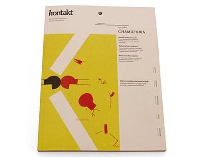 layout of 'Kontakt' magazine