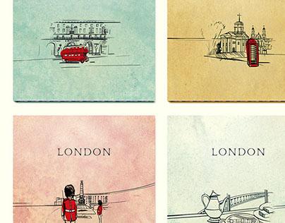 "Menu for coffee bar ""London"""
