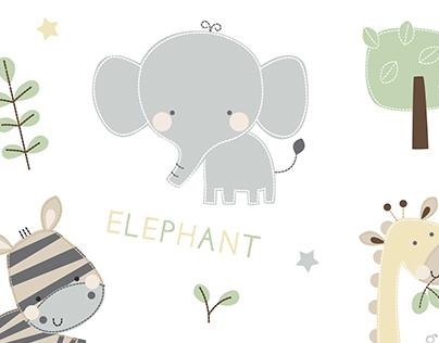 Edgars Newborn Unisex Zoo Layette