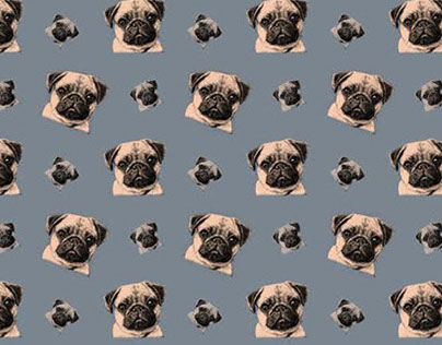 WIP - Hand-drawn Pug Patterns