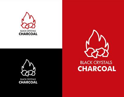 Black Crystals Charcoal (Logo Design)