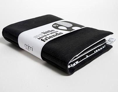 Fabric Book - Little Black & White Friends
