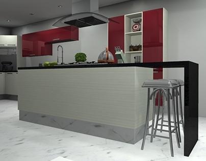 Shine Red & White Design