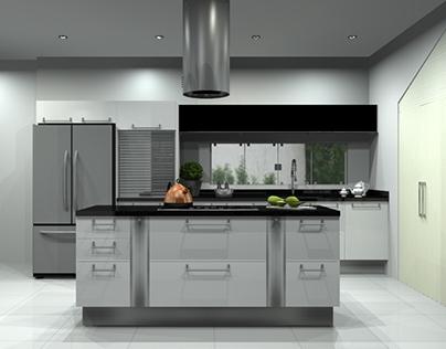 Shine White Kitchen Project