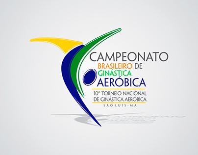 Logo do 10º Torneio Nacional de Ginástica Aeróbica