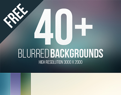 40 Blurred High Resolution Backgrounds
