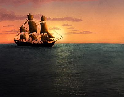 Take Me To The Horizon - Digital Painting